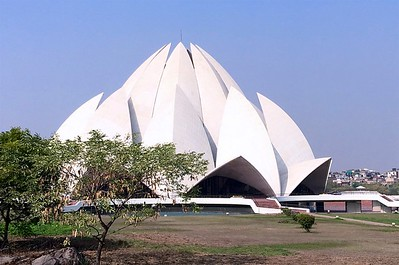Built in 1986, Lotus Temple is made up of pure white marble.