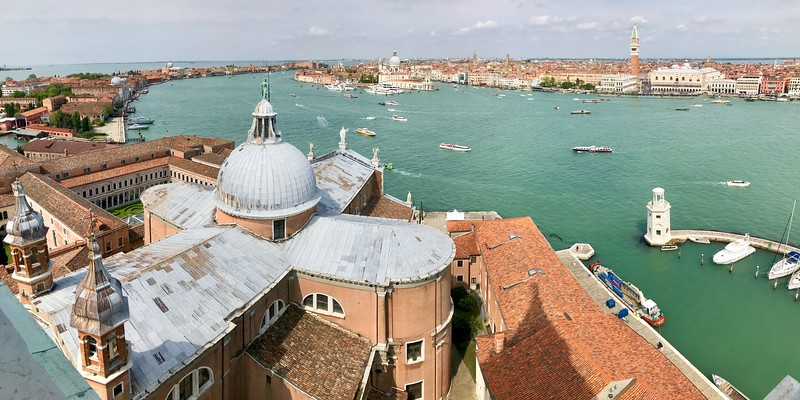 View from the Bell tower of the Church of San Giorgio Maggiore