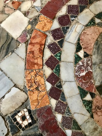 Tile work on the floor of St. Mark's Basilica