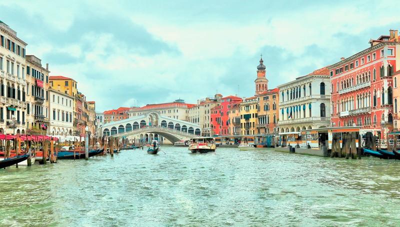 The Rialto Bridge - Grand Canal - Venice