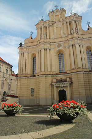 Situated within Vilnius University is St. John's Church. The present building dates to the 18th century. -Vilnius, Lithuania