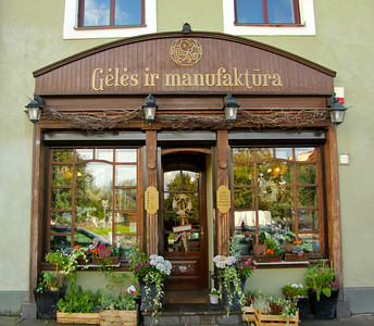 Beautiful storefront -Vilnius, Lithuania