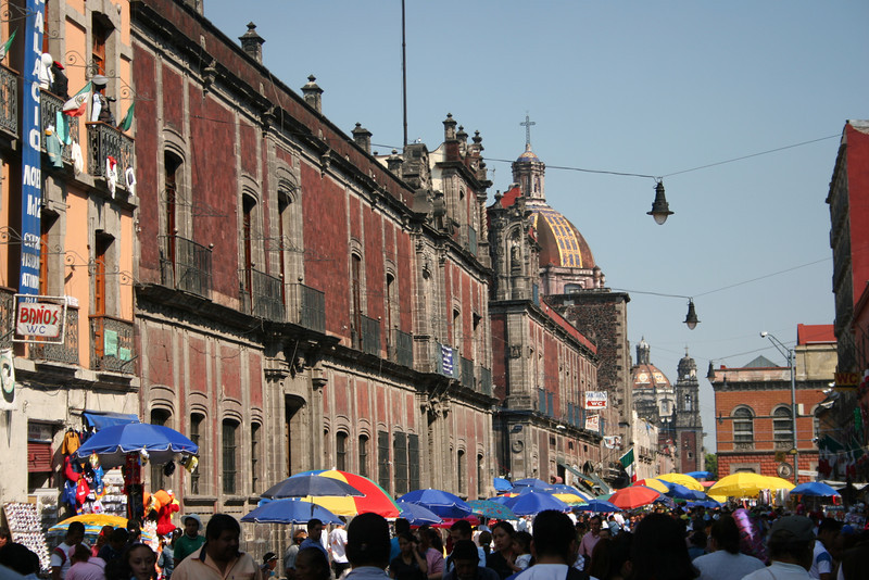 The lively street of Calle Moneda