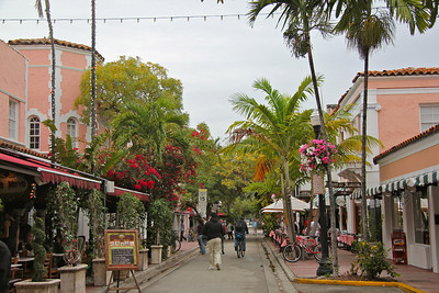 Quaint Espanola Way in South Beach