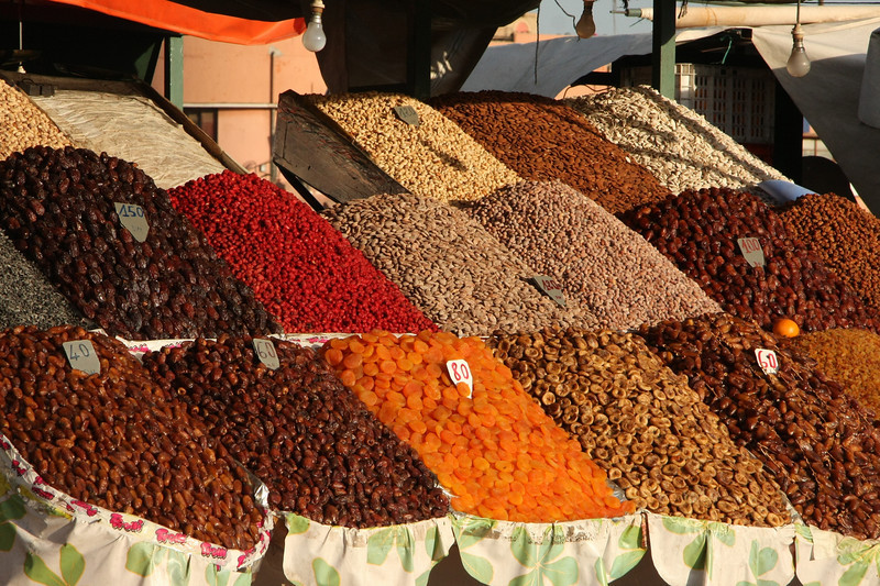Dried fruits and nuts for sale