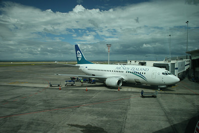 Our plane from Auckland to Dunedin.