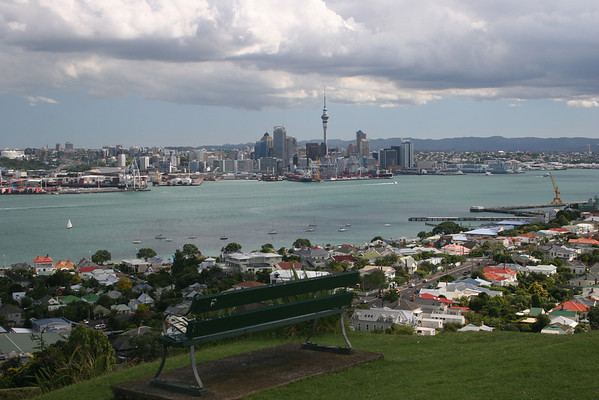View of Auckland from the town of Devenport