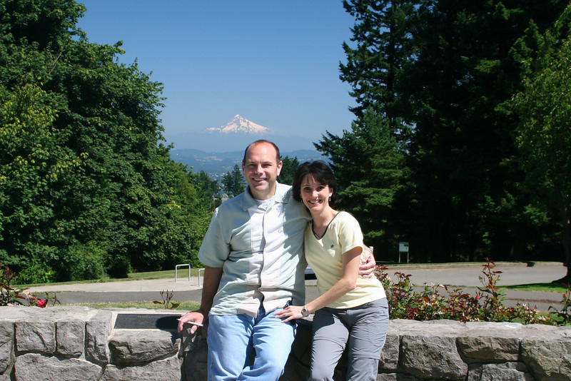 Enjoying the view from Council Crest!