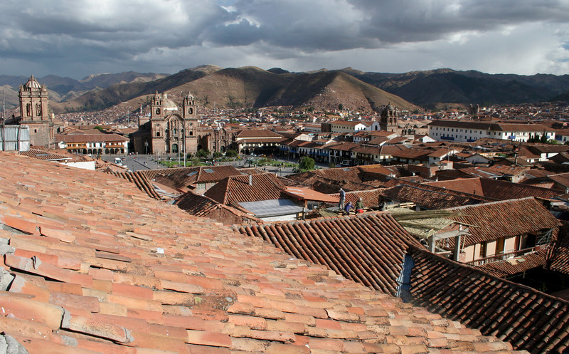 Overlooking Cusco and the Plaza de Armes