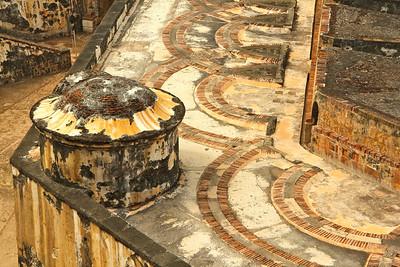 Intricate stone work at Castillo San Felipe del Morro