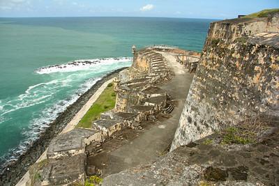 The defensive walls of Castillo San Felipe del Morro