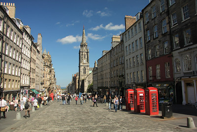 The Royal Mile - Edinburgh Runs from the entrance of Edinburgh Castle to the gates of Holyrood Palace.