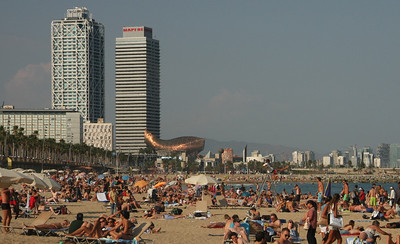 Barceloneta beach.