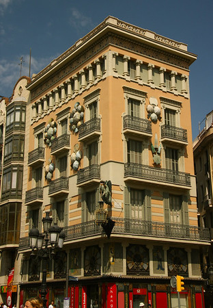 One of the many unique buildings along Las Ramblas