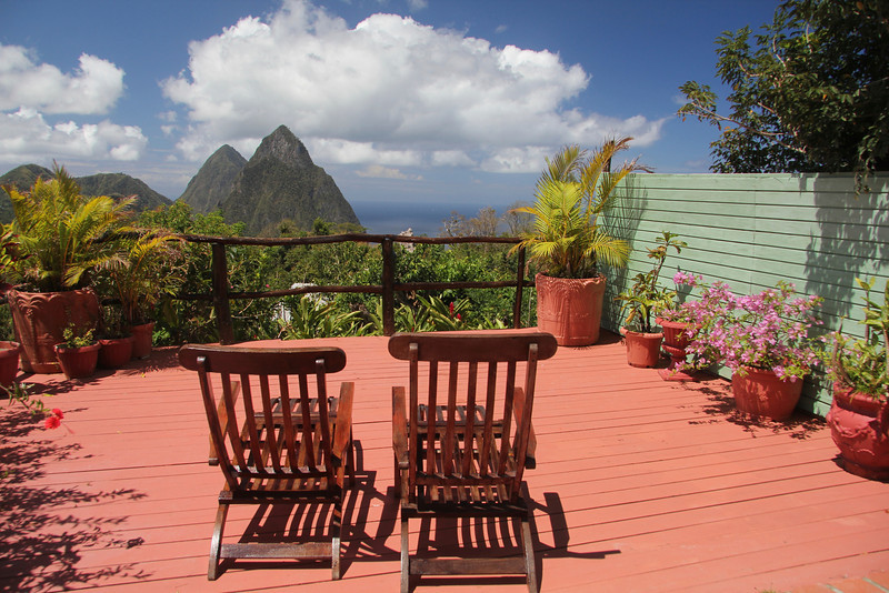 View from Crystals Hotel Soufriere, St. Lucia