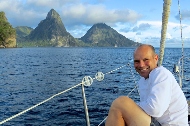 Enjoying a day out on the ocean -St. Lucia