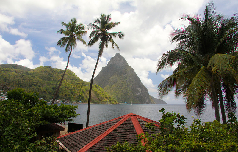 View of Petit Piton Soufriere, St. Lucia