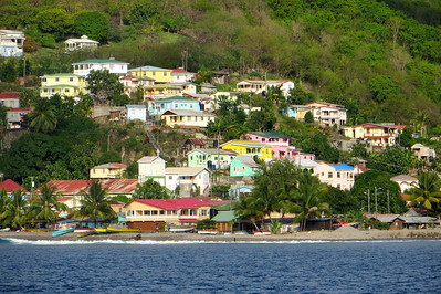 The small town of Canaries on the west coast of St. Lucia
