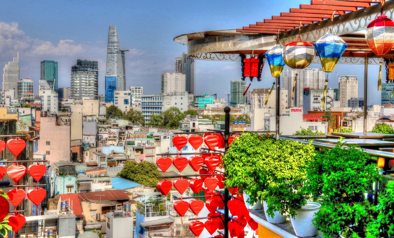 Rooftop views over Ho Chi Minh City