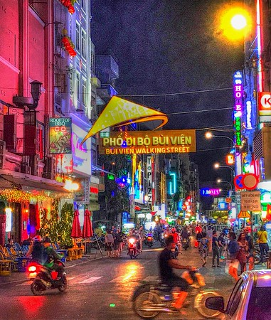 Bui Vien Walking Street - Ho Chi Minh City