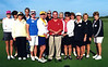 Members playing at the Stone Canyon club September 17th, 2009.  That's PGA professional Dale Bowne who gave the ladies a bump and run lesson before play!