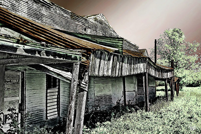 Old Shops in Dale, TX (infrared)