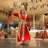 C. Noelle Partusch, of Erie, Pennsylvania, and Assistant Professor of dance at Mercyhurst University, performs at the Sacred Song Service on Sunday, July 27, 2015, along with her students who make up the Mercyhurst Liturgical Dance Ensemble.