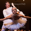 """Dancers Josh Hall, left, and Allessandra James, right, perform the pas de deux from Swan Lake during the Into the Music Series No. 2: """"Total Tchaikovsky"""" concert on Tuesday, July 26, 2016, in the Amphitheater. Photo by Carolyn Brown."""
