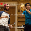 "Left to right: Andrew Richardson and Josh Grosso perform in ""Basket Ball of Friendship"" by Kenzie Carpenter, a fourth grader at Fletcher Elementary School, in Lenna Hall on June 20, 2016. In the show, Richardson and Grosso play two boys who are shocked when a girl tries out for the basketball team. The show was written as part of the Young Playwrights Festival, a collaboration between the Florida Studio Theatre and the Chautauqua Theatre Conservatory."