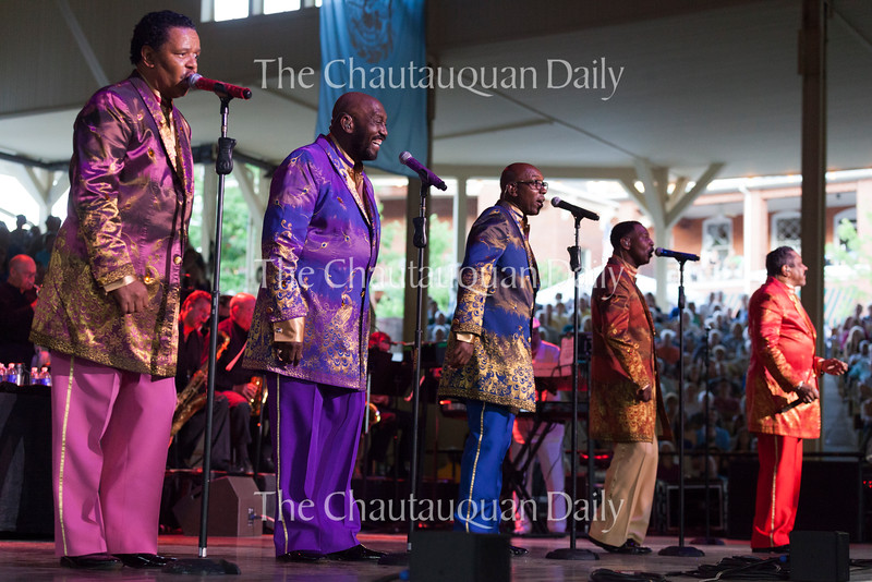 The Temptations perform to a sold-out crowd in the Amphitheater on June 25, 2016. The group played for about 70 minutes before The Four Tops took the stage. The band's music inspired audience members to sing and dance in their seats throughout the night.