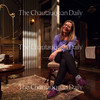 """Larissa Kokernot, director of the Chautauqua Theater Company's upcoming production of """"In the Next Room (or the vibrator play),"""" poses for a photo on the set of the show in Bratton Theater on June 29, 2016. """"In the Next Room (or the vibrator play)"""" will run at Bratton Theater from July 1 through July 10. Photo by Carolyn Brown."""