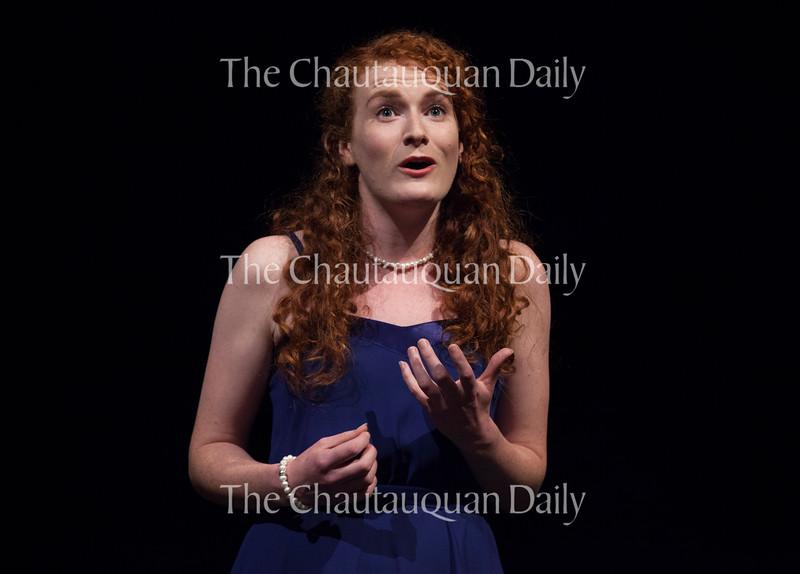 """On June 20, 2016, Soprano Margaret Bridge sings the aria """"E Susanna non vien... Dove sono"""" from Mozart's """"Le nozze di Figaro,"""" at Norton Hall. Bridge is one of fifteen Studio Artists in the 2016 class of Chautauqua Opera Young Artists."""