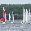 Sailboats fill the horizon as they compete in the Lake Erie District Championship Regatta on Chautauqua Lake June 18, 2016.