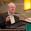 "Steve Forbes, Editor-in-Chief of Forbes Magazine, delivers his talk at 10:45 AM on July 6, 2016, in the Amphitheater, as part of the Week Two theme, ""Money and Power."" In his talk, Forbes discussed Brexit, the world economy, his ideas for fixing the Federal Reserve, the problems with the American healthcare system, and why the US should be on the gold standard.<br /> <br /> Photo by Carolyn Brown"