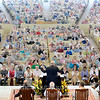 Thomas M. Becker delivers the annual Three Taps of the Gavel address during Sunday's morning worship service in the Amphitheater June 26, 2016.  Becker will be retiring as president of the Chautauqua Institution at end of the year.