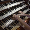 Nick Nasibyan plays the organ in the Amphitheater after helping tune it Tuesday, June 21, 2016. Nasibyan says the organ still needs some more tuning before it will be ready for the season.