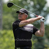 Troy Moss, head golf pro, tees off on hole four during the 30th Annual Charity Pro-Am Golf Tournament on the Chautauqua golf course on June 28, 2016. The pro winner was Kirk Stauffer with a score of 66 and the winning team was Danny Kaye, Scott Christ, Bill Bernard, and Mike Wimer with a score of 128.