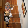 "Joan Kiefer and Mary Jane Metz look at ""Pork Roast and Sauerkraut"" by Michael Tkach in the 59th Chautauqua Annual Exhibition of Contemporary Art during the opening reception in Strohl Art Center on Sunday, June 26, 2016."