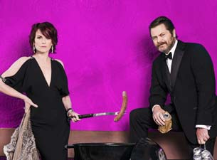 Nick Offerman and Megan Mullally