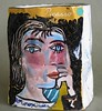 "Parker, Patricia Zinsmeister - Untitled Ceramic Vase, ""Picasso Bag"", 1992"