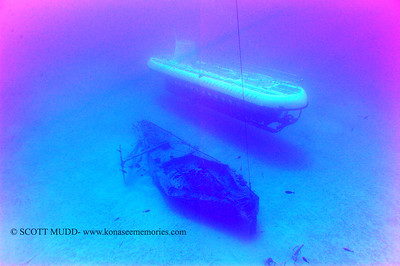 wreck and submarine (地没船と潜水艦)