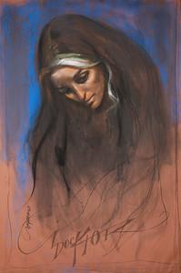 Irv Docktor pastel portrait-9