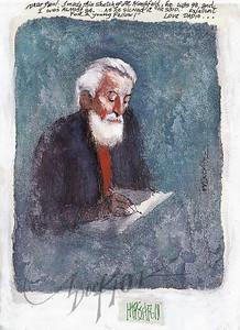 Al Hirschfeld portrait