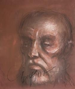 Irv Docktor pastel portrait-32