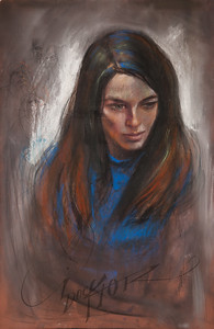 Irv Docktor pastel portrait-1