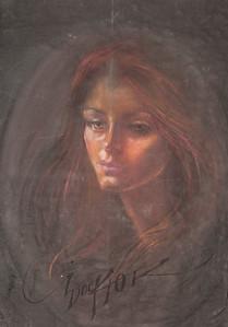 Irv Docktor pastel portrait-23
