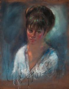 Irv Docktor pastel portrait-18