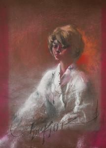 Irv Docktor pastel portrait-24