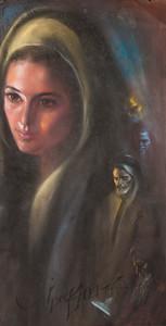 Irv Docktor pastel portrait-17
