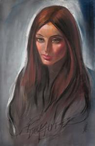 Irv Docktor pastel portrait-12